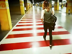 Blowjob and Cum in Mouth on Public Parking Lot - Natali Fiction