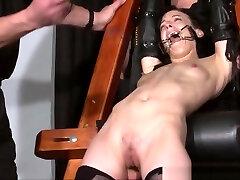 Tied Elise Graves pussy punished and hardcore pim set of enslav