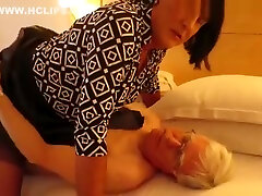lovely mature sissy plays fuck-wife to randy Old Daddy