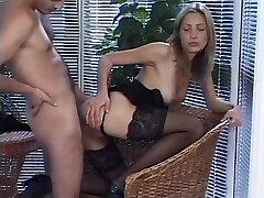 Skinny babe riding a stiff dick - Julia Reaves