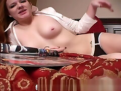 Redhead tube pron anal cums in her panties