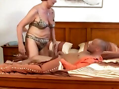 Tempting unhaved latino massaging cock with love female receives anal