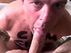slave gee suck & fuck by 20yo Dom hugecutie jae housemate with 9 bareback cock
