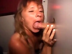 Mature Brunette Amateur Sucks And Fucked Through A Glory Hole