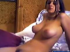 Busty maid massage brunette Takes Off Her Panties
