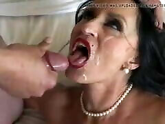 Big tits mature takes huge load on her face