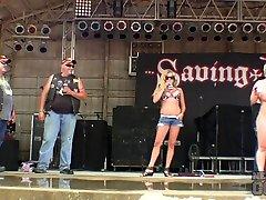 Big free to Biker Girl Strip Down Contest At The 2015 Abate Of Iowa Freedom Rally - NebraskaCoeds