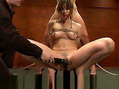 Dana n Tara bound together sucking tits