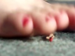 Giantess Punishes Tinies Close Up MissJenniP Red Nails HQ