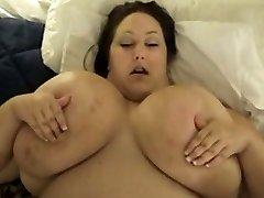 Busty Monique huge ebony police threesome boobs