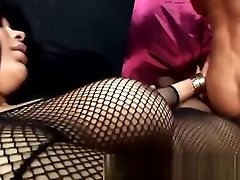 Lingeried Tgirl drills a guy in turn