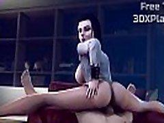 Horny 3D Whore Enjoying a Dick