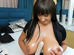 Big Round Tit Mature Wife Teases Her Nipples