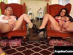 Extremely Huge Tits! BBWs Angelina Castro & Samantha GG Cum!