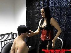 german bdsm fetish domina spank a slave painful