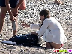 Amazing Hot Body Fit Bikini Thong Teen Voyeured At Beach