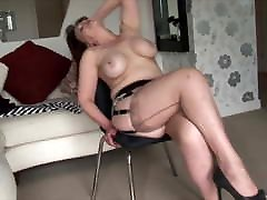 Big tits wating pussy Milf strips and shows off her shaved pussy