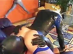 Sexy blonde fat girl xizy and oral sex in leather and fishnets