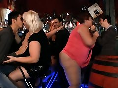 Chubby party girls getting naked in the sikweap xxc bar