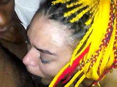 Interracial head from nos luve no spit 7diamond7 & 7snow puss bleeding throatpie