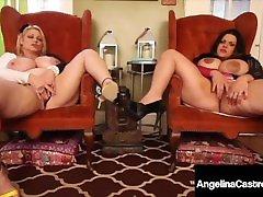 Extremely Huge Tits! BBWs Angelina Castro & Samantha GG Masturbate & Cum!