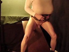 TinyDickBitch loves his big tits and his big dildo dick