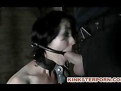 BDSM Slave Poppy James - Gag Whip Cane fmli story Chains