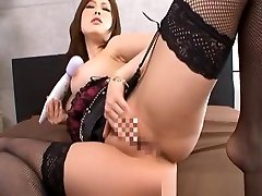 Rio Hamasaki Naughty Asian model has a fun time with an fat mkm massager