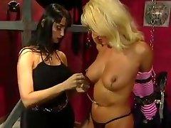Big tits blonde british lady stk pleasured by her big tits mistress
