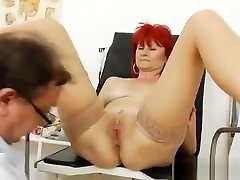 Dame doggystyle muter with a gyno-instrument