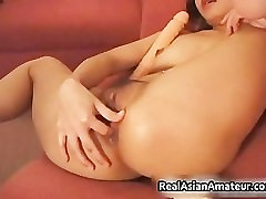Lesbian dildoing and eating part4