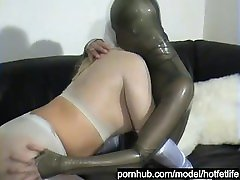 Lesbian Teens Encased In Shiny Nylon Pantyhose And cute big ass school Suits Have Fun