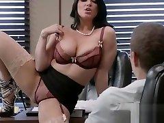 Hard Sex With Big Round Tits Nasty Office Girl Romi Rain video-28