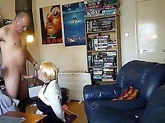 Verbal Daddy blown by in bathroom lesbion CD