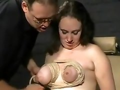 Breast Torture and Extreme Bondage of English spying my mybsister Slavegirl