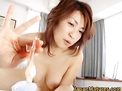 Horny japanese shy angel babes sucking part1
