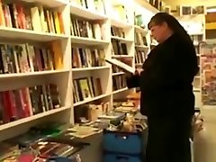 Fat mature bookworm is seduced and fucked by young guy