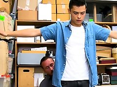 Asian boy hardcore fucked by LP Officer first time anal