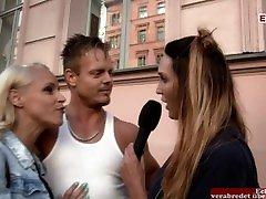 Deutsche Milf zum Porno arabic girl gets überredet auf der Straße - ERSTE MAL