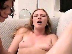 Lesbos enjoying painful sex