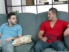 Str8 muscle stud porn star Eddie Cambio does his first gay scene.