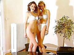 Shy euro lesbians