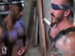 Interracial gay porn feet on slaves face sex