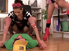 A pizza delivery boy gets tied up with sticky mfc leilee tape