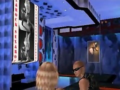 Sexy 3D cartoon blonde stripper babe does a dance
