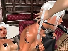 Sexy and kinky 3D cartoon lesbian babes going at it