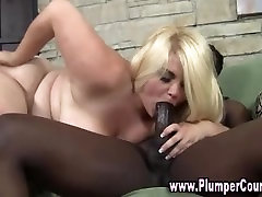 Black cock for plumpers mouth and pussy