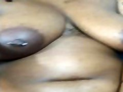 Thicc Ebony wFat Jiggly Ass and voyeurs video Strips Down for Solo Play