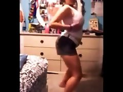 Chubby Teen with fat Titties Dance and Strip