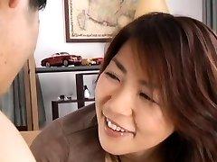 Sweet busty mature maiden Kyoko gets to big orgasm